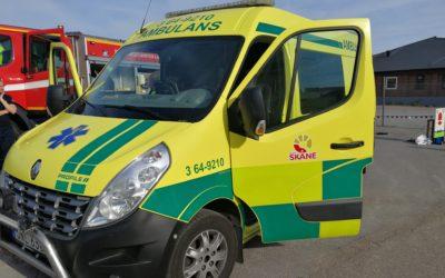 Vi åkte ambulans idag